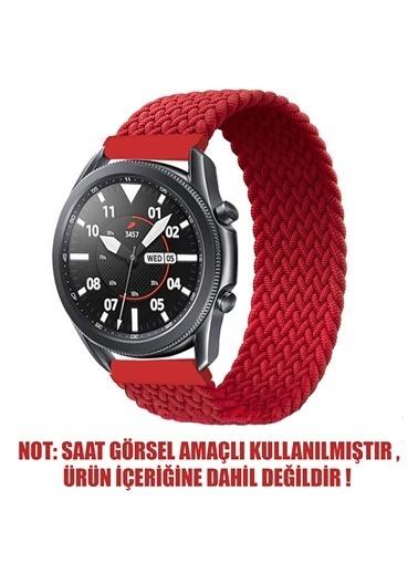 Microsonic Realme Rma207 Watch S Kordon, (Small Size, 135Mm) Braided Solo Loop Band Kırmızı Kırmızı